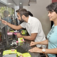 Ranvir Shorey and Gul Panag at Fatso stars sell tickets at PVR | Fatso Event Photo Gallery