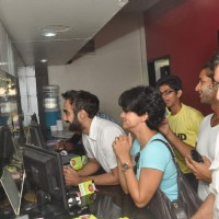 Rajat Kapoor, Ranvir Shorey and Gul Panag at Fatso stars sell tickets at PVR | Fatso Event Photo Gallery