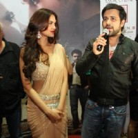 Mahesh Bhatt, Emraan Hashmi and Esha Gupta at the premiere of Jannat 2 at Diera City Centre Dubai | Jannat 2 Event Photo Gallery