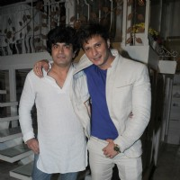 Raja Choudhary with Sufzal Saleem at Sufzal Saleem's birthday bash
