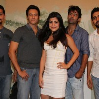 Varun Khandelwal,Shenaz Treasurywala,Barun Sobti & Kavi Shastri at Mahurat of Main Aur Mr Riight