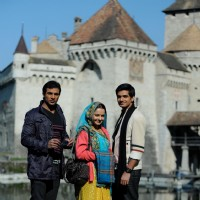 Giaa Manek , Mohammad Nazim and Vishal Singh at switzerland on the set of Saath Nibhana Saathiya