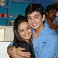 Himansh & Abigail on the sets of Humse Hai Life
