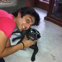 Himansh with his dog