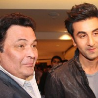 Ranbir Kapoor with Dad Rishi Kapoor
