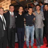 Boman Irani, Vidhu Vinod Chopra, Aamir Khan, Sharman Joshi at the premiere of 'Ferrari Ki Sawaari' | Ferrari Ki Sawaari Event Photo Gallery