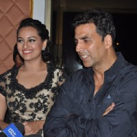 Sonakshi Sinha and Akshay Kumar at Rowdy Rathore Success Party | Rowdy Rathore Event Photo Gallery
