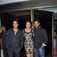 Akshay Kumar, Sonakshi Sinha and Prabhu Deva atRowdy Rathore Success Party | Rowdy Rathore Event Photo Gallery
