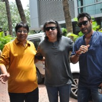 Vashu Bhagnani, Sajid Khan and Ajay Devgn at Song Recording of Film Himmatwala - 2 | Himmatwala(2013) Event Photo Gallery