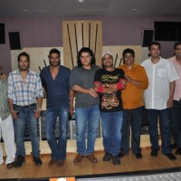 Wajid Ali, Sameer, Mika, Ajay Devgn, Sajid Khan, Vashu Bhagnani at Song Recording of Himmatwala - 2 | Himmatwala(2013) Event Photo Gallery
