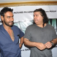 Sajid Khan and Ajay Devgn at Song Recording of Film Himmatwala - 2 | Himmatwala(2013) Event Photo Gallery