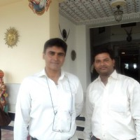 Mohnish Behl with a fan