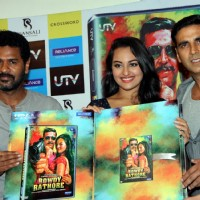 Prabhu Deva, Sonakshi Sinha and Akshay Kumar at DVD launch of 'Rowdy Rathore' | Rowdy Rathore Event Photo Gallery
