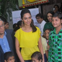 Bollywood actress Mallika Sherawat meets CPAA patients in Mumbai .