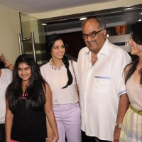 Bollywood actress Sridevi and her family at first look launch of film English Vinglish at PVR in Mumbai.. | English Vinglish Event Photo Gallery