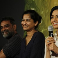 R Balki with his wife Gauri Shinde and Sridevi at First Look Film English Vinghlish | English Vinglish Event Photo Gallery