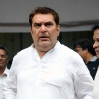 Raza Murad at the funeral of cinematographer and director Ashok Mehta