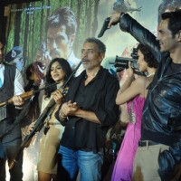 Bollywood actors Arjun Rampal and Abhay Deol at the launch of Prakash Jha's 'Chakravyuh' in Cinemax, Mumbai. . | Chakravyuh Event Photo Gallery