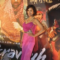 Bollywood actress Esha Gupta at the launch of Prakash Jha's 'Chakravyuh' in Cinemax, Mumbai. . | Chakravyuh Event Photo Gallery