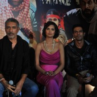 Prakash Jha, Esha Gupta and Arjun Rampal at Unveiling of forthcoming film Chakravyuh | Chakravyuh Event Photo Gallery
