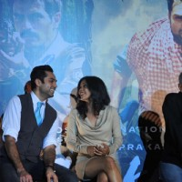 Abhay Deol, Anjali Patel and Prakash Jha at Unveiling of forthcoming film Chakravyuh