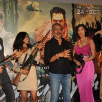 Abhay Deol, Anjali Patel and Prakash Jha at Unveiling of forthcoming film Chakravyuh | Chakravyuh Event Photo Gallery