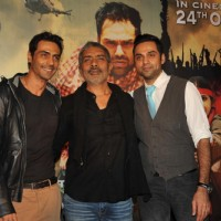 Arjun Rampal, Prakash Jha and Abhay Deol at Unveiling of forthcoming film Chakravyuh