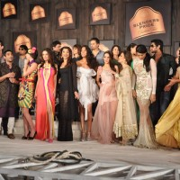 Sameera Reddy, Perizaad Zorabian, Shazahn Padamsee and Lisa Haydon during the 8th edition of Seagram's Blenders Pride Fashion Tour