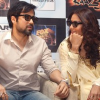 Bollywood actors Emraan Hashmi and Bipasha Basu at a press meet for the film Raaz-3 in New Delhi . | Raaz 3 Event Photo Gallery