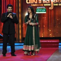 Karan Johar and Kareena Kapoor at Film Promotion Heroine on Set Jhalak Dikhhala Jaa | Heroine Event Photo Gallery