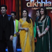 Karan Johar, Madhuri Dixit & Kareena Kapoor at Film Promotion Heroine on Set of Jhalak Dikhhala Jaa | Heroine Event Photo Gallery