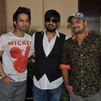 Rahul Vaidya, Wajid Ali and Sajid Ali at  Music Launch Film Ishkq in Paris | Ishkq In Paris  Event Photo Gallery