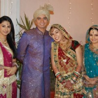 Rucha,Vishal,Firoza and Giaa on Saath Nibhana Saathiya set.