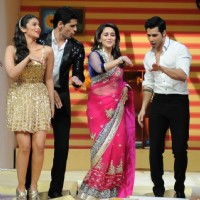 Madhuri Dixit, Siddharth Malhotra, Varun Dhawan and Alia Bhatt dances on the sets of Jhalak Dikhla Jaa