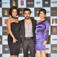 Neha Dhupia, Emraan Hashmi and Sagarika Ghatge and during the music launch of upcoming film Rush | Rush Event Photo Gallery