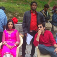 Disha and Nakuul on the set of Pyaar Ka Dard Hai.