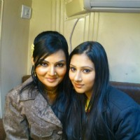 Disha with Bharti for the shoot of Pyaar Ka Dard Hai Meetha Meetha Pyaara Pyaara.