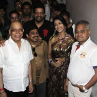 Govind Namdeo, Sajan, Mukesh, Hrishita & Sanjay Mishra at bollywood came to Navratri utsav to promote their film in Mumbai.