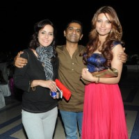 Tulip Joshi with Capt. Nair and Shama Sikander at Amy Billimoria B'Day Bash