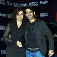 Hiten Tejwani with wife Gauri Pradhan Tejwani at People magazine's party