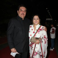 Raza Murad with wife at ITA Awards 2012