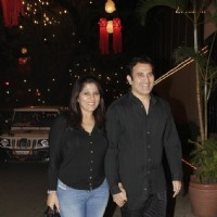 Archana Puran Singh with husband Parmeet Sethi at Bachchan Family's Diwali Party at Jalsa