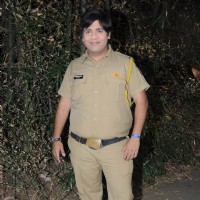 Kiku Sharda on the set of SAB TV popular show FIR