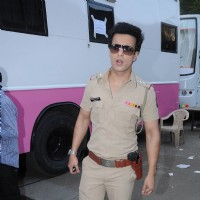 Aamir Ali on the set of SAB TV popular show FIR