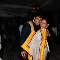 Sai Deodhar and Shakti Anand at the launch of their Production house ''Thoughtrain Entertainment''.