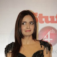 Shazahn Padamsee unveils the 4th anniversary issue cover of STUFF magazine at The Comedy Store