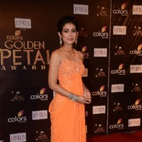 Akanksha Singh as Megha of Na Bole Tum at Colors Golden Petal Awards Red Carpet Moments