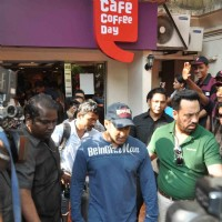 Salman Khan at film DABANGG 2 promotions at Cafe Coffee Day | Dabangg 2 Event Photo Gallery