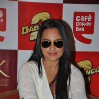 Sonakshi Sinha at film DABANGG 2 promotions at Cafe Coffee Day | Dabangg 2 Event Photo Gallery