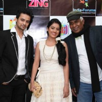 Varunn Jain, Deepika Singh and Ashok Lokhande at the celebration of India Forums 9th Anniversary
